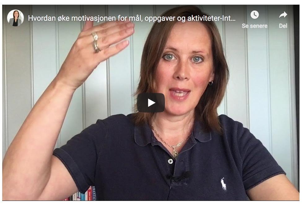 Hvordan øke motivasjonen for mål, oppgaver, rolle eller aktiviteter